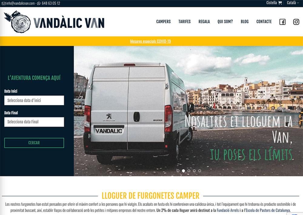 Diseño Web para alquiler de Autocaravana y Furgonetas Campers Van